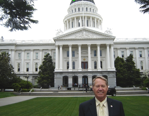 La Habra Heights Mayor Howard Vipperman, Sacramento
