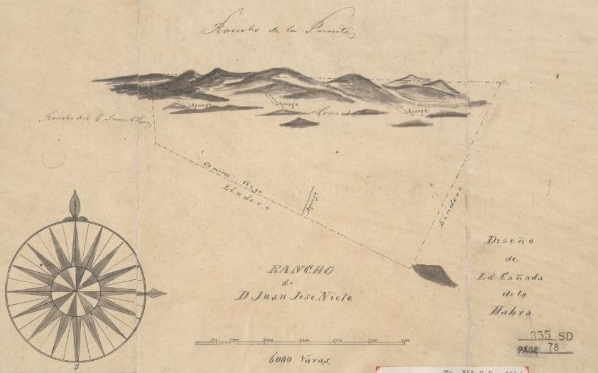 Rancho Cañada de La Habra Map